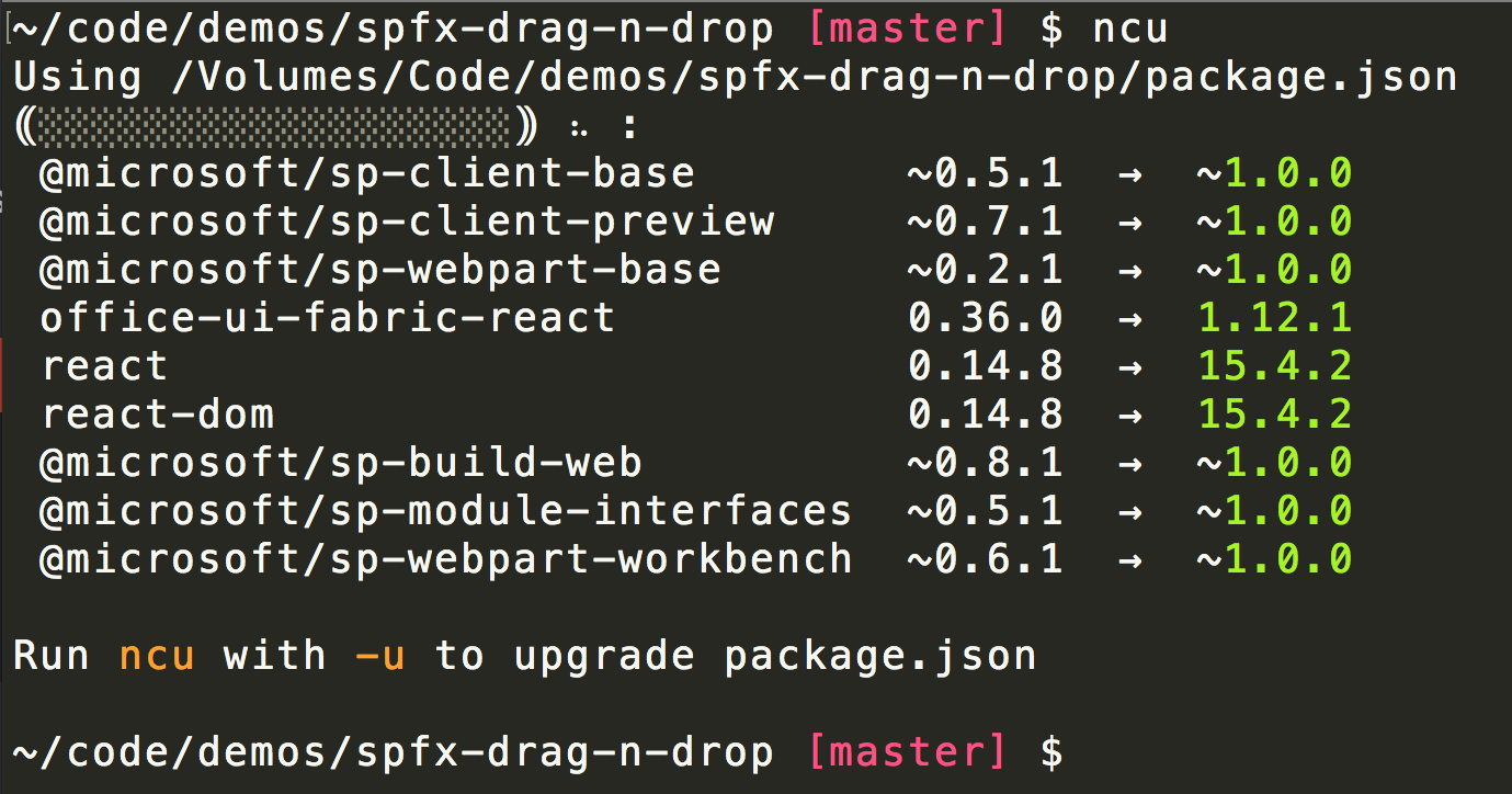 Keep SPFX and NPM Packages up-to-date | Stefan Bauer - N8D